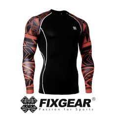 FIXGEAR CPD-B19R Compression Skin Tights Under Shirts MMA Workout GYM Fitness