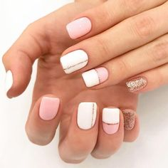 Simple Strips Line Nail Art Designs to try Stripe design is one of charming bridal nail art designs that you should also take into consideration. It is a simple and attractive design that is liked by almost everyone.It is quick, easy and looks stunning. Cute Summer Nail Designs, Cute Summer Nails, Short Nail Designs, Nail Art Designs, Nails Design, Nail Summer, Gold Nails, White Nails, Pink Nails
