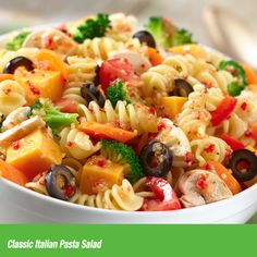 Bursting with herbs and spices, Wish-Bone Italian Dressing takes center stage in this Classic Italian Pasta Salad.