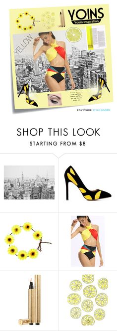 """YOINS"" by evelynn-cole ❤ liked on Polyvore featuring Post-It, Yves Saint Laurent and Mehron"