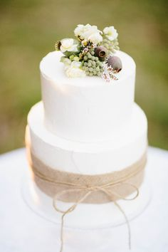 Sweet + simple cake from La Petite Miette  Read more - http://www.stylemepretty.com/australia-weddings/2013/08/09/french-provincial-inspiration-at-montrose-berry-farm-from-origami-creatives/
