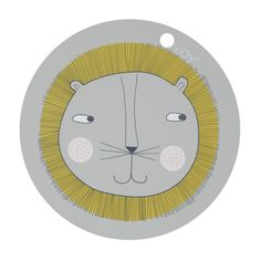 Invite a friendly lion to dinner with these fun and cute placemats. These durable placemats are made from silicone which makes them easy to wipe clean, perfect for your messy little ones. Placemat Design, Cartoon Lion, Lion Illustration, Danish Interior, Lion Print, Burke Decor, Deco Table, Marimekko, Cleaning Wipes
