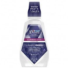 Crest White Luxe Glamorous White Multi-Care Whitening Fresh Mint Flavor Mouthwash 946 mL, Pack of 3 (packaging may vary) -- New and awesome product awaits you, Read it now : Teeth Whitening Blend A Med, Best Mouthwash, Crest 3d White, White Smile, Best Teeth Whitening, Crest Whitening, Fresh Mint, Alcohol Free, Deep Cleaning