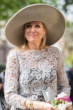 Koningin Máxima opent tentoonstelling Chinees porselein Princess Kate Middleton, Lace Outfit, Queen Maxima, Irish Lace, Royal Fashion, Nassau, Outfits, Dutch Royalty, Royals