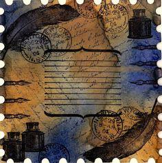 Mail Art using Darkroom Door Correspondence Stamp Set