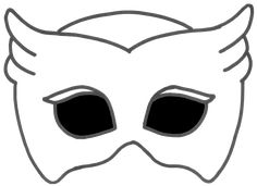 Printable Owlette Mask with Transparent Background