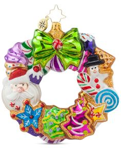 Christopher Radko Treats Wreath Ornament