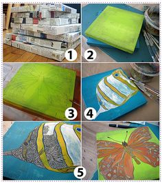 painting on paper mache- covered surfaces