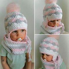 (990) Doručené – Seznam Email Crochet Bebe, Crochet Baby Hats, Knit Crochet, Knitting Patterns, Crochet Patterns, Crochet Winter, Finger Knitting, Winter Kids, Kids Hats