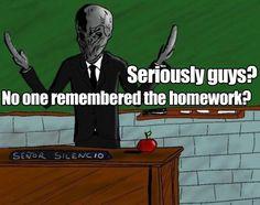 Poor Silence Teacher…
