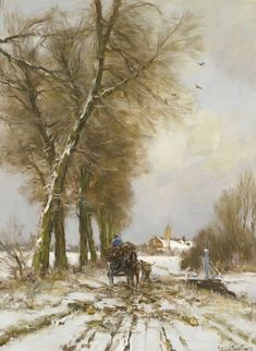 Figures on a Snowy Path, Louis Apol