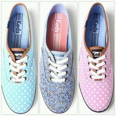 ea156614ffce1 Light blue and white polka dot keds. Blue