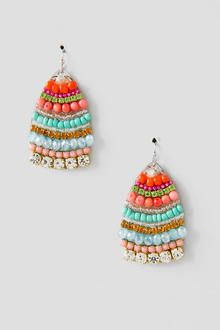 Dyna Beaded Teardrop Earrings
