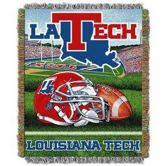 Louisiana Tech Bulldogs NCAA Woven Tapestry Throw (Home Field Advantage) (48x60)