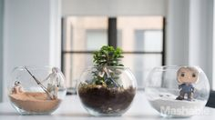 A classic terrarium adds beauty to your office or living room — especially if you get a little inspiration from a few planets located in a galaxy far, far away. Based on three planets from the Star Wars galaxy — Endor, Hoth and Jakku — you can easily make a quick and adorable bit of decoration for any room. #starwars #jedi #Endor #Hoth #Jakku eFurnitureMart - 100% Furniture Financing, Free Shipping, Discounted Furniture, Discount