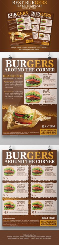 Rustic Menu Food Menu Menu Templates And Menu - Delivery menu template