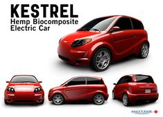 kestrel-hemp-car-5-07-11 The Kestrel is now the trend setter. (See picture) Not only is this vehicle fully electric, answering the zero emission vehicle (ZEV) demand, it sports the all—green-to-manufacture—hemp based body panels to boot! Groundbreaking? Indeed it is. Motive Industries Inc., out of Calgary Alberta, is changing the face of car manufacturing by simultaneously employing Hemp and electric for the vision for the industry's future in Canada.