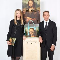 """61.2k Likes, 489 Comments - Louis Vuitton Official (@louisvuitton) on Instagram: """"Delphine Arnault and Jeff Koons by @PatrickDemarchelier before Da Vinci's Mona Lisa at the…"""""""