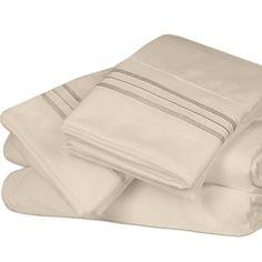 Twin Size - Deep Sleep Premier 1800 Thread Count Sheet Sets