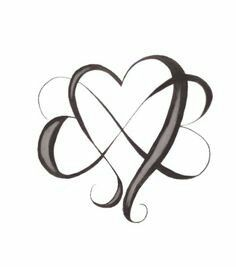 infinity heart tattoo designs do appeal Trendy Tattoos, Love Tattoos, Beautiful Tattoos, New Tattoos, Small Tattoos, Tattoos For Women, Crown Tattoos, Mother Daughter Tattoos, Tattoos For Daughters