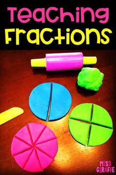 Fractions in First Grade Third Grade Math, First Grade Classroom, Math Classroom, Kindergarten Math, Kids Math, Future Classroom, Second Grade, Teaching Fractions, Math Fractions