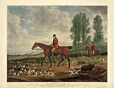 "Fox Hunting, Hounds, Horses, 22""x17"" ART by Richard Davis, antique vintage decor"