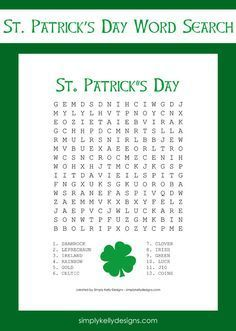 Free St. Patrick's Day Word Search Printable | Simply Kelly Designs #StPatricksDay #wordsearch #printable