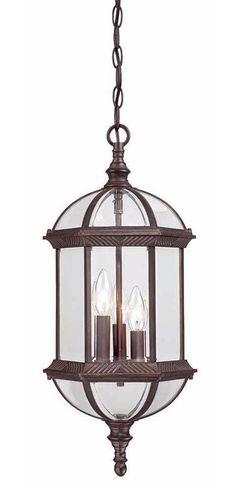 Alico Lighting 3512ST//FR Acclaim Lighting Stone Finished Outdoor Pendant with Frosted Seeded Glass Shades