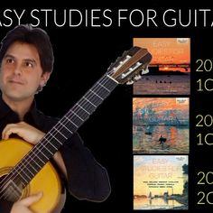 Tutti gli studi della trilogia Easy Studies for Guitar Classical Guitar, List, Music Instruments, Studio, Musical Instruments, Studios