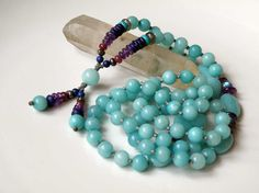 Yogi's choice Amazonite gemstone necklace  by DancingLotusDesigns, kr750.00