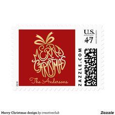 Merry Christmas design Stamp #merrychristmas #happyholidays #seasonsgreetings #seasonalstamp