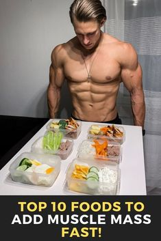 Top 10 Foods To Add Muscle Mass Fast! - Healthy Eating İdeas For Exercise Food To Gain Muscle, Muscle Food, Herbal Remedies, Natural Remedies, Fitness Diet, Health Fitness, Fitness Inspiration, Gewichtsverlust Motivation, Muscle Mass