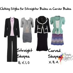 Which suits your body shape - curvy clothes or straighter shapes?