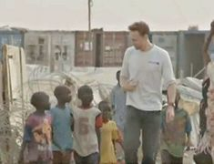 Tom Hiddleston in Juba, South Sudan on February 26, 2015. https://www.youtube.com/watch?v=rFw-G1vi1pg
