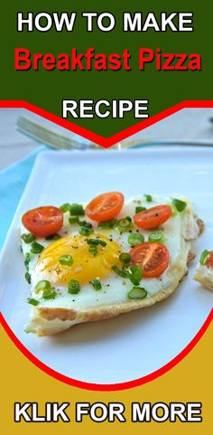 Easy Recipe - Breakfast with egg Pizza