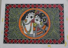 krishna madhubani paintings - Google Search