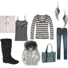 """gray"" by peace-mel on Polyvore"