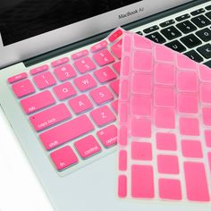 """Hot Pink Keyboard Silicone Cover Skin for New Macbook Air 11"""" Model: A1465"""