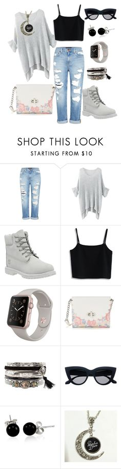 """""""Untitled #3"""" by marianela-parlanti ❤ liked on Polyvore featuring Genetic Denim, Timberland, Chicwish, Candie's, New Look and Bling Jewelry"""