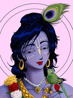 Krsna's merciful glance by nairarun