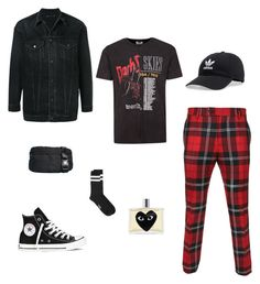"""Untitled #49"" by rayensulistiawan on Polyvore featuring MINEDENIM, Topman, Versace, adidas, Opening Ceremony, Converse, Play Comme des Garçons, men's fashion and menswear"