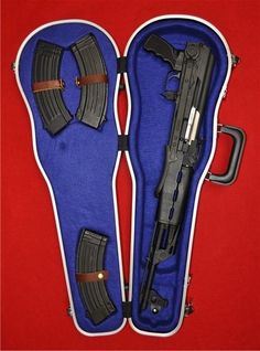 "M70 underfolding rifle with guitar case (Yugoslavia) #guns  ""SAY HELLO TO MY LITTLE FRIEND!"""