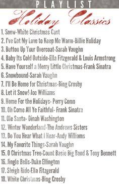holiday playlist christmas music playlist christmas tunes classy christmas christmas carols songs - Christmas Classic Songs