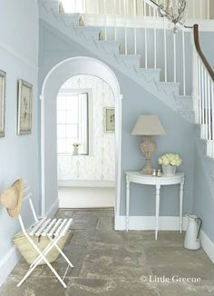 Ooh to have this color in your home! Bone China Blue Pale from Little Green paints UK.