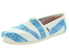 Toms Women's Classic Blue and White Casual Shoe 6 Women US
