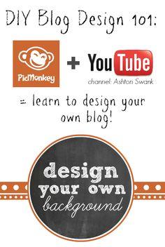 Design your own blog background using Picmonkey! www.somethingswanky.com