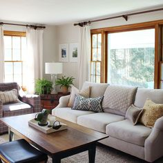 Family Room Decorating Ideas | Living Room Styles 2016 | House Living Room Ideas Beige Living Room Paint, Living Room White, White Rooms, Living Room Colors, Home Living Room, Living Room Decor, Oak Wood Trim, Room Paint Colors, Wall Colors