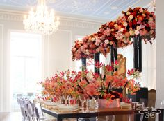 Floral designs by Neill Strain Floral Couture create excitement and the ultimate wow! factor for the stylish dinner party or event.