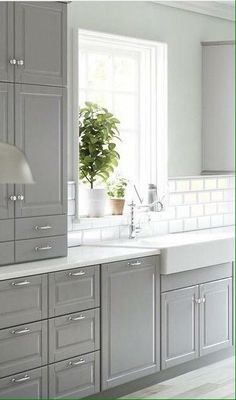 Kitchen ikea bodbyn sinks 66 New ideas White Kitchen Cabinets Bodbyn Ideas IKEA Kitchen Sinks Kitchen Ikea, Grey Kitchen Cabinets, Kitchen Cabinet Design, Kitchen Redo, New Kitchen, Awesome Kitchen, White Cabinets, Kitchen Backsplash, Cheap Kitchen