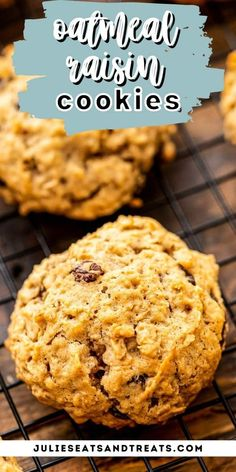 Oatmeal Raisin Cookies just like grandma used to make. These soft and chewy cookies have the perfect amount of spices and raisins. They freeze great and are so easy to make. If you are looking for the BEST cookie out there this is it!
